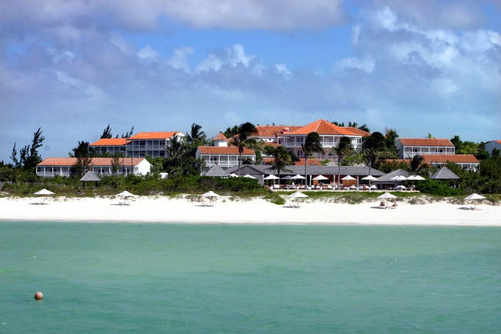 An exterior shot of Parrot Cay.