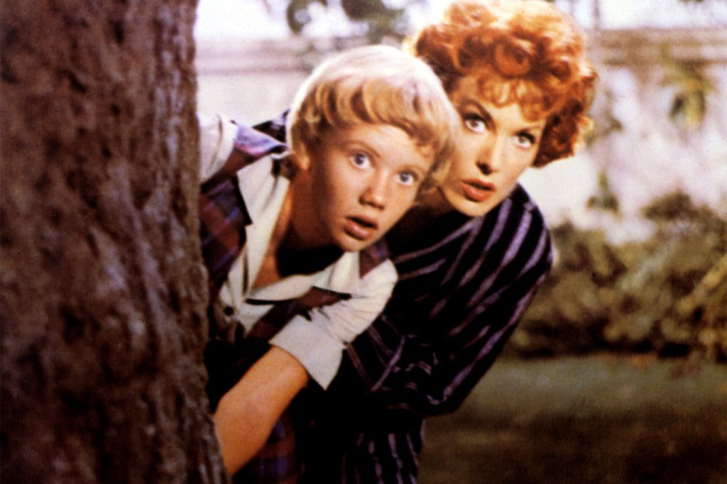 """A young Hayley Mills and Maureen O'Hara in 1961's """"The Parent Trap."""""""