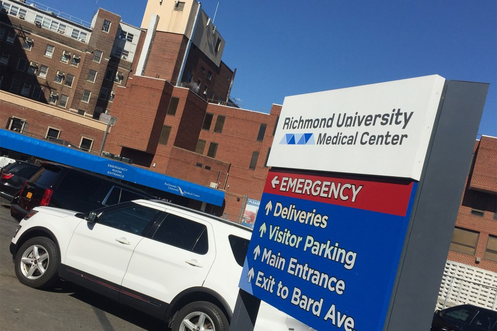 A spokesperson said 10 percent of workers at Richmond University Hospital were still unvaccinated.