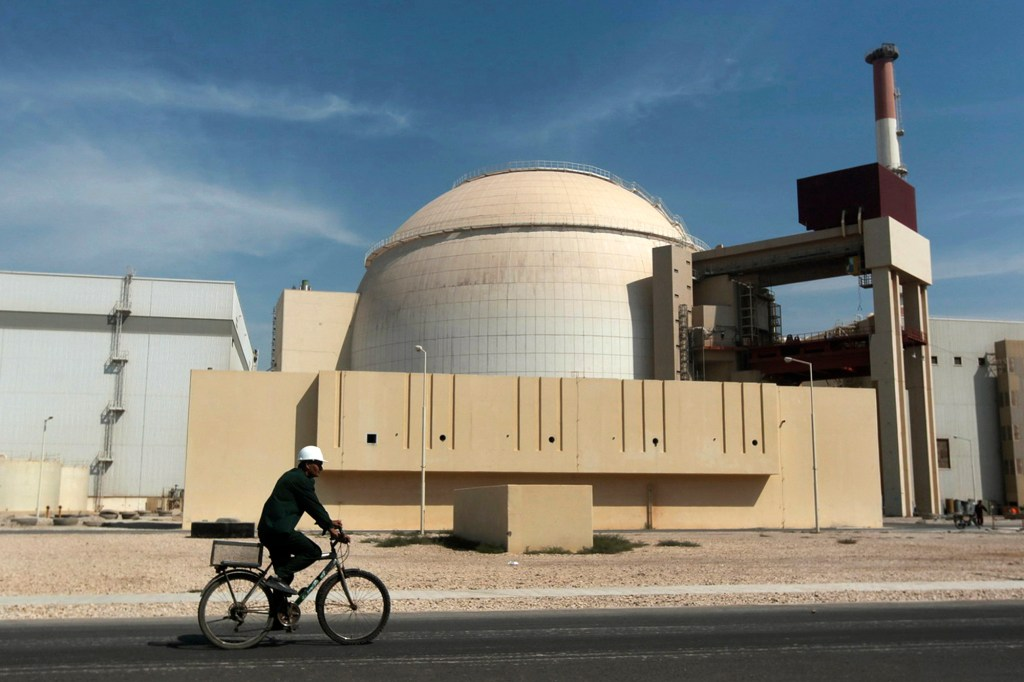 The reactor building of the Bushehr nuclear power plant, just outside the southern city of Bushehr in Iran.