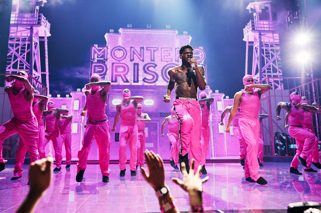 Lil Nas X performs onstage during the 2021 MTV Video Music Awards.