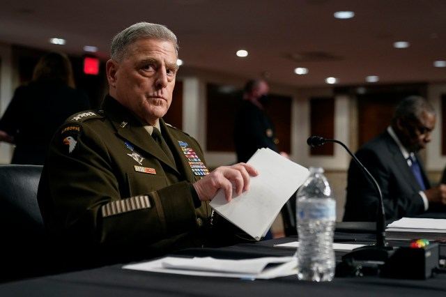 Chairman of the Joint Chiefs of Staff Gen. Mark A. Milley