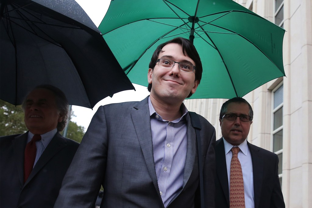 Martin Shkreli, pictured during his 2017 trial for securities fraud
