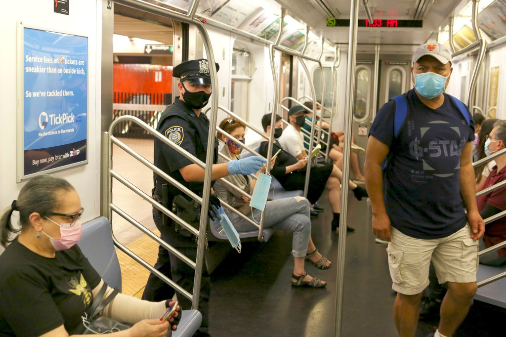 The MTA, at the Manhattan, NY Bowling Green subway station, announced on September 22, 2021 that the mask mandate on public transportation will be stringently enforced by the police.