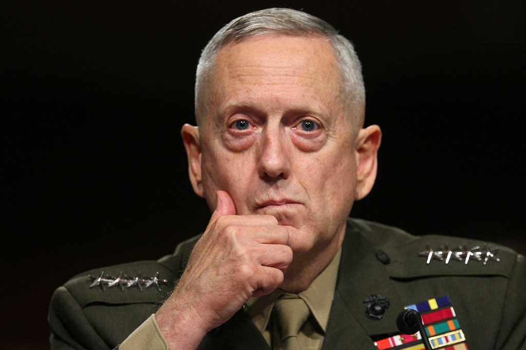 James Mattis in military uniform with medals and bars on the shoulders