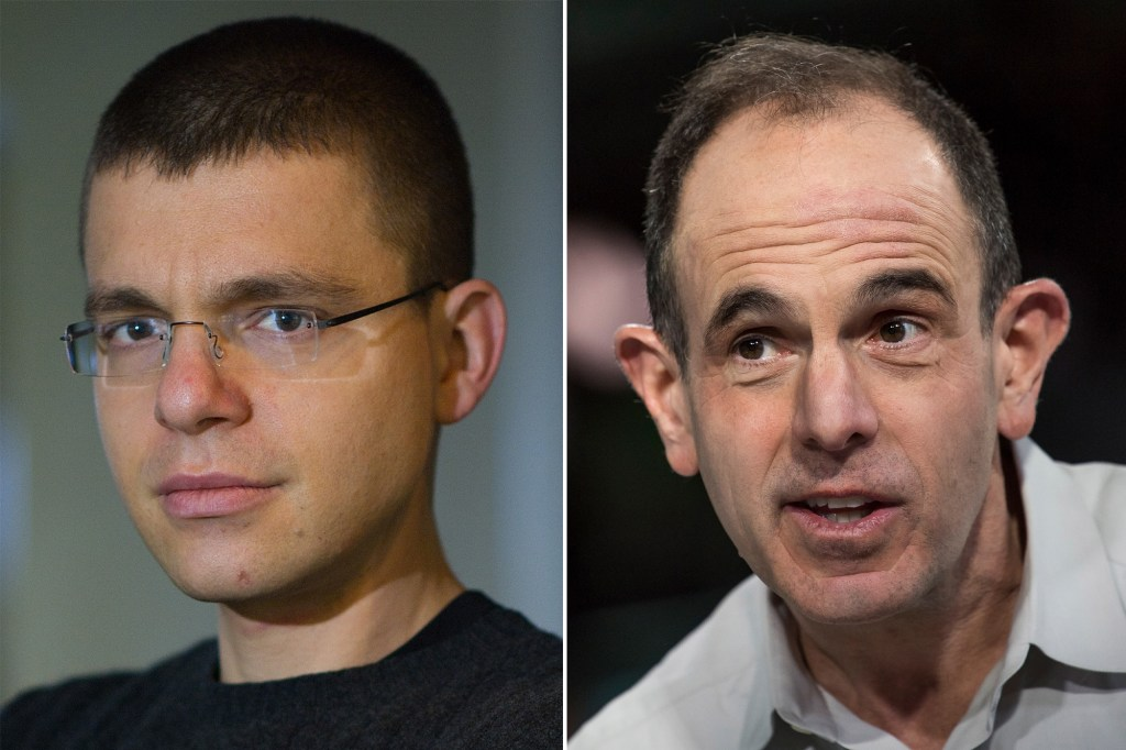 THE ALLIES: Max Levchin (left) and Keith Rabois (right) are founding members of PayPal.