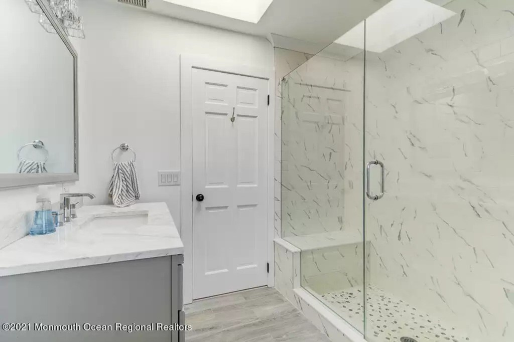 One of five bathrooms.