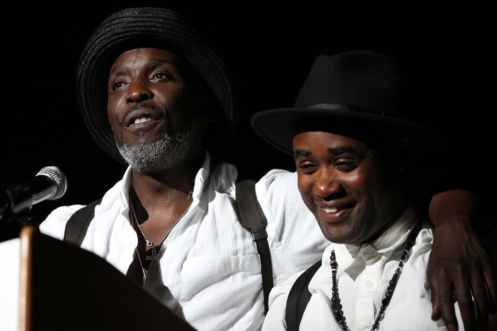 Michael K. Williams with his former co-star Tray Chaney.
