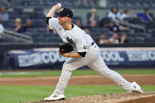 The New York Yankees pitcher Michael King is starting.