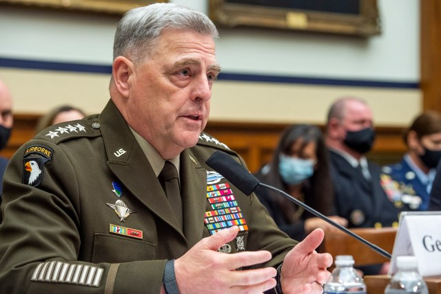 """Asked if President Biden's action led to failure in Afghanistan, General Milley replied, """"I'm not going to judge a president."""""""