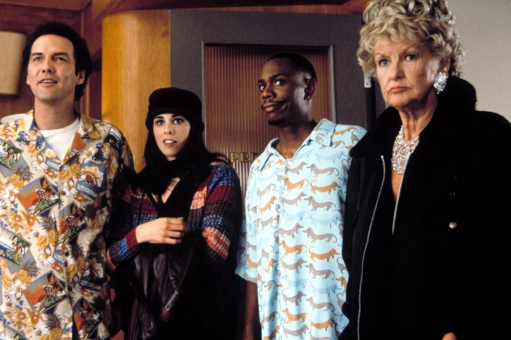 """Norm Macdonald, Sarah Silverman, Dave Chappelle and Elaine Stritch in """"Screwed."""""""