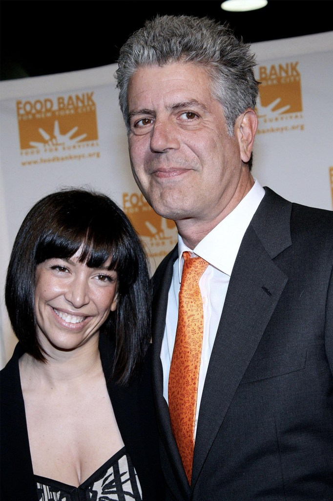 Anthony Bourdain and his second wife Ottavia Busia.