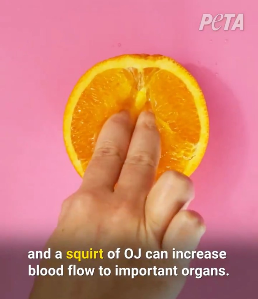 They also grope an orange.