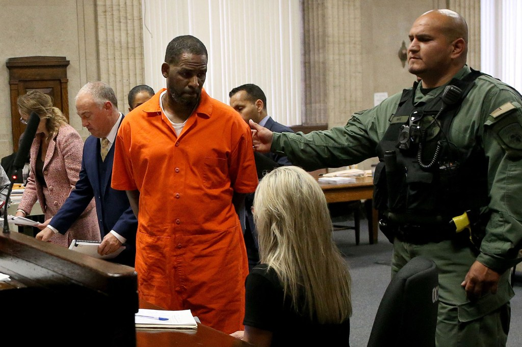 Kelly is pictured in court in 2019