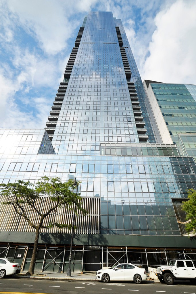 An exterior of the Skyline Tower.