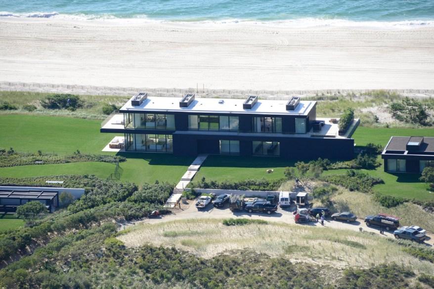 Calvin Klein's massive beach house on Meadow Lane in Southampton