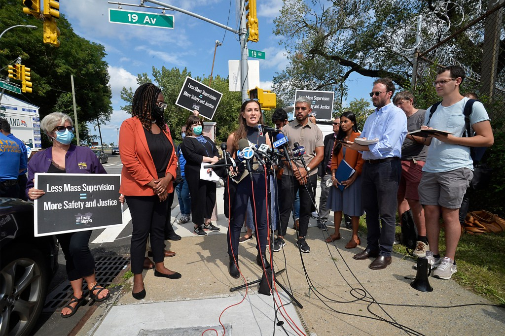 """State Senator Alessandra Biaggi described the """"hellish"""" conditions she witnessed at Rikers Island."""