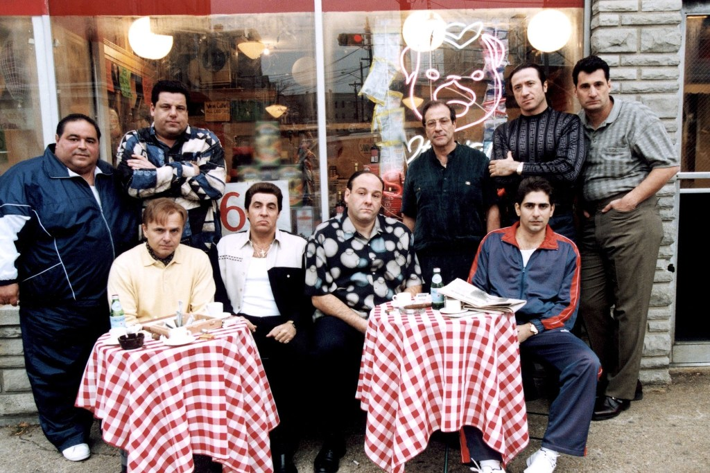 """'Sopranos' (cast pictured above) creator David Chase says """"90 percent of ['The Sopranos'] is made up ... [but] it's patterned after the [Boiardo] family."""""""