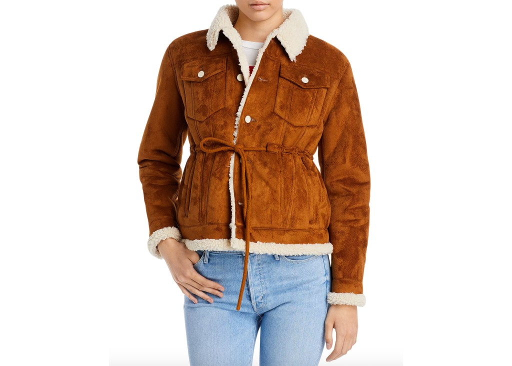 Mother The Drawstring Drifter Sherpa Lined Jacket