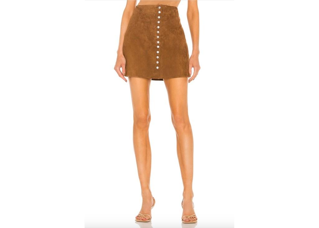 BlankNYC Suede Snap Skirt
