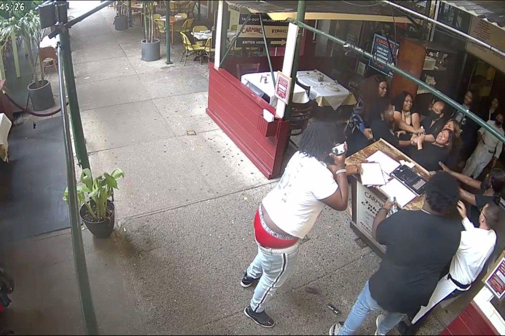 Video grabs of Carmine's assault