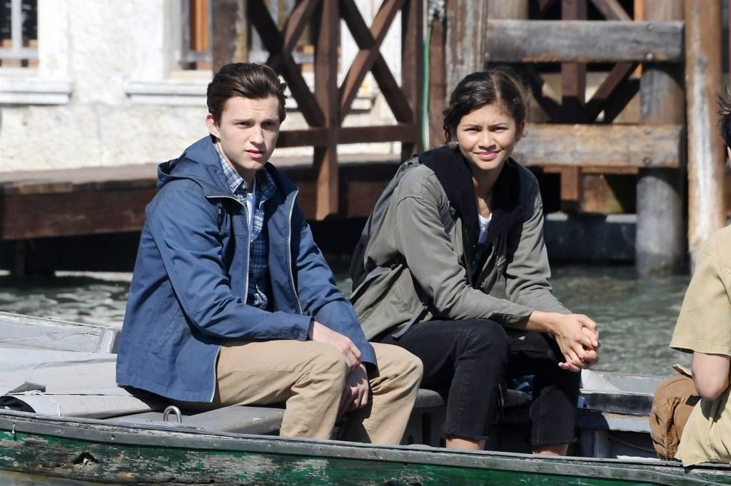 Tom and Zendaya snapped on set.