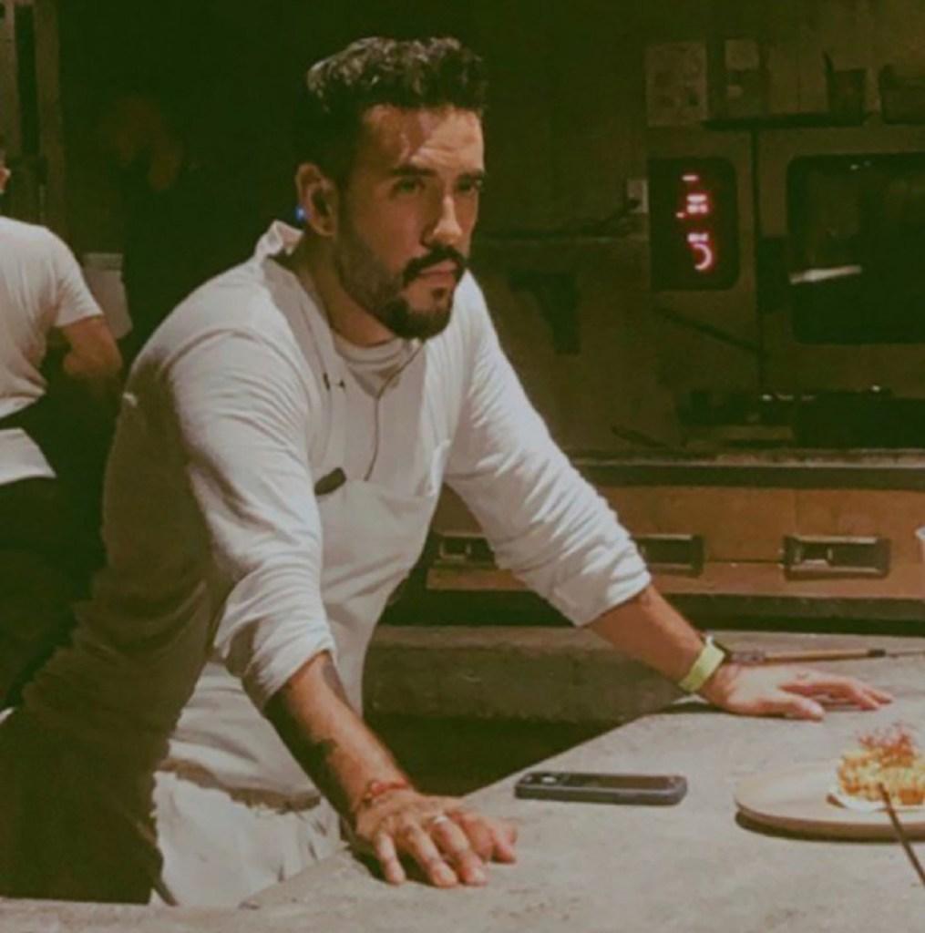 A shot of the chef at Paradero Todos Santos.