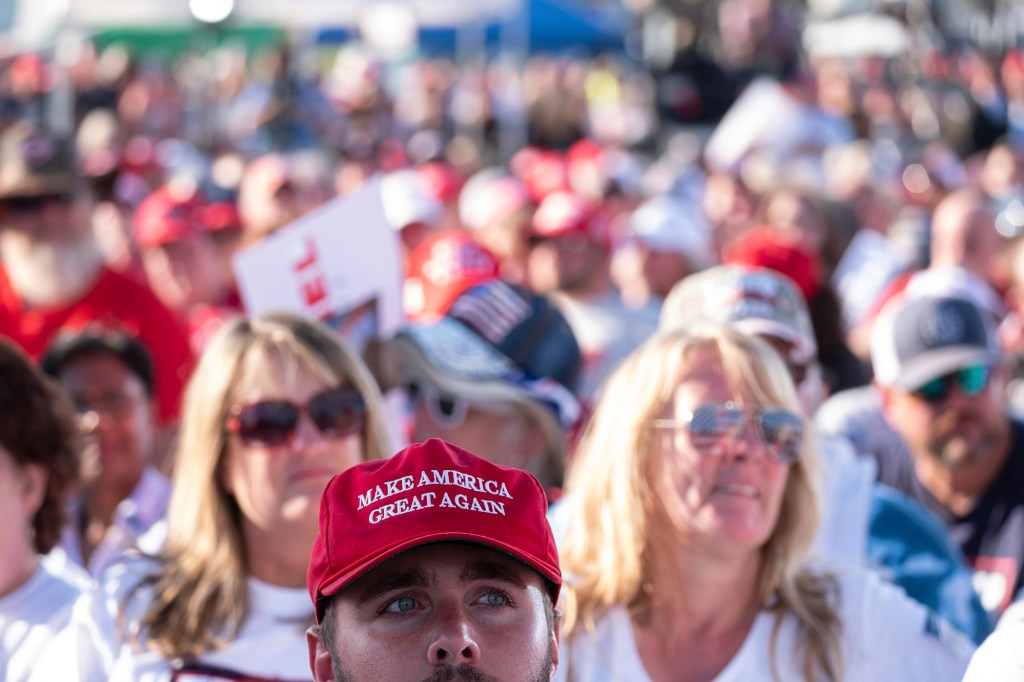 Supporters attend former president Donald Trump's Save America rally in Perry, Ga. on Sept. 25, 2021.