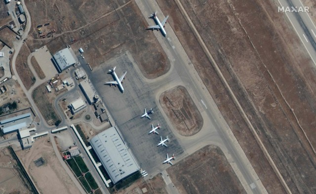 Planes were grounded at Mazar-i-Sharif airport in northern Afghanistan on Sept. 3, 2021.