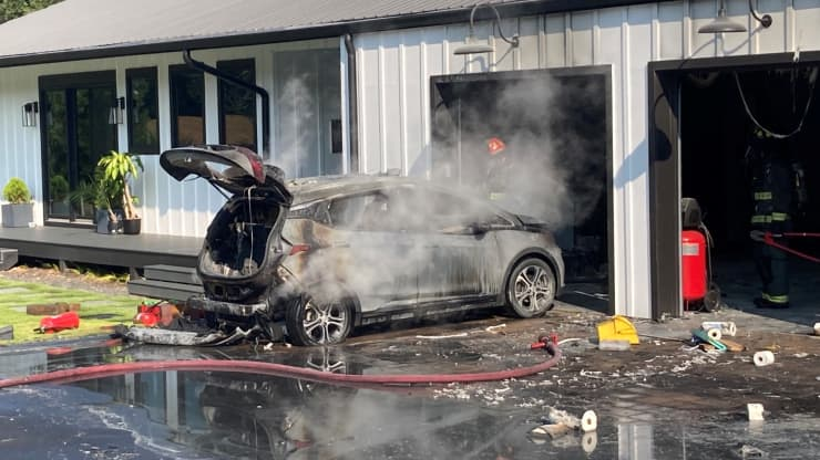 General Motors issued a statement saying that owner of the Chevy Bolt should park their vehicles outside and far away from their homes after several vehicles caught fire.