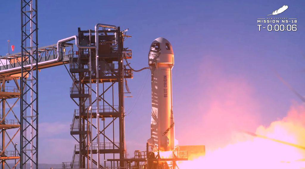 William Shatner used Jeff Bezos' Blue Origin New Shepard rocket during his 11-minute trip.