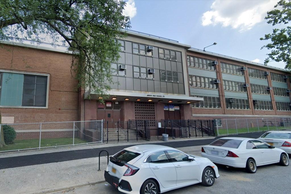 Calliste was arrested in the school's auditorium.