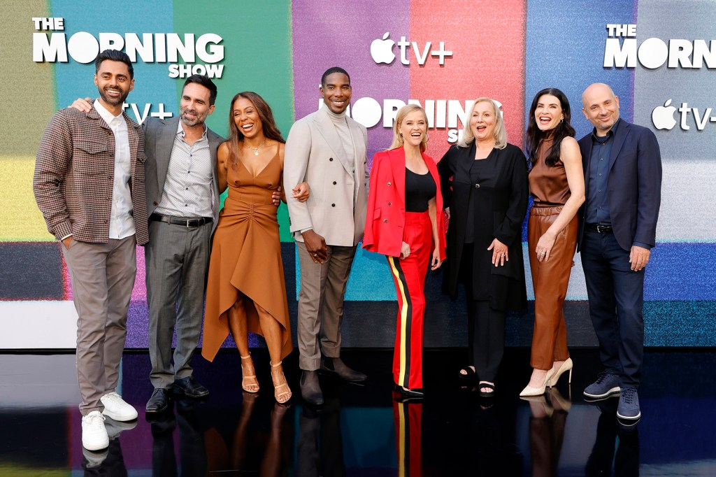 """Margulies (second from right) has joined the all-star cast of """"The Morning Show."""""""