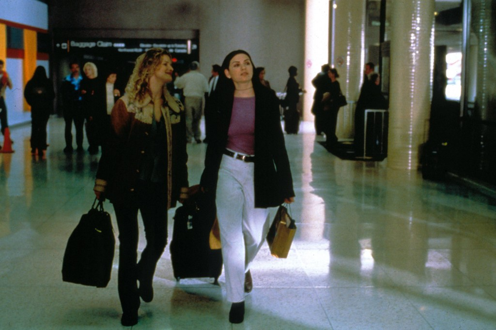 """Back in 2000, Margulies (right) starred as Kyra Sedgwick's lesbian lover, Carla, in the comedy-drama """"What's Cooking?"""""""