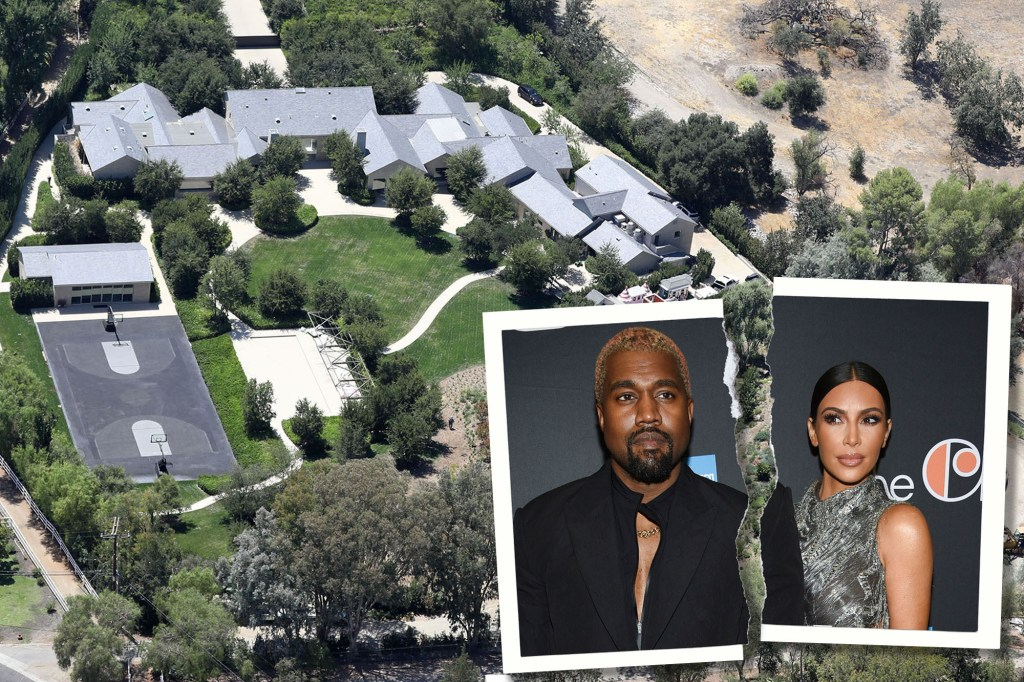 Court records filed on Tuesday reveals Kim Kardashina will get the Hidden Hills home she shared with Kanye West.