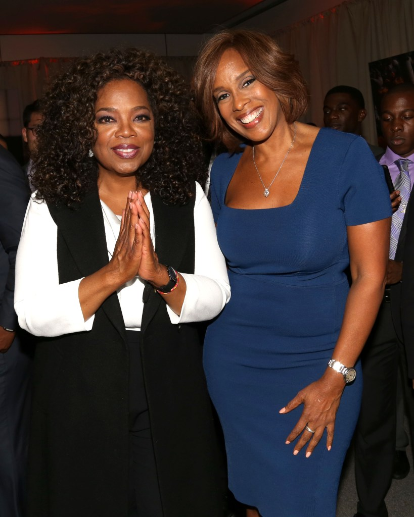 """Oprah Winfrey, left, and Gayle King attend the after-party for the premiere of the Oprah Winfrey Network's (OWN) documentary series """"Belief"""" in 2015."""