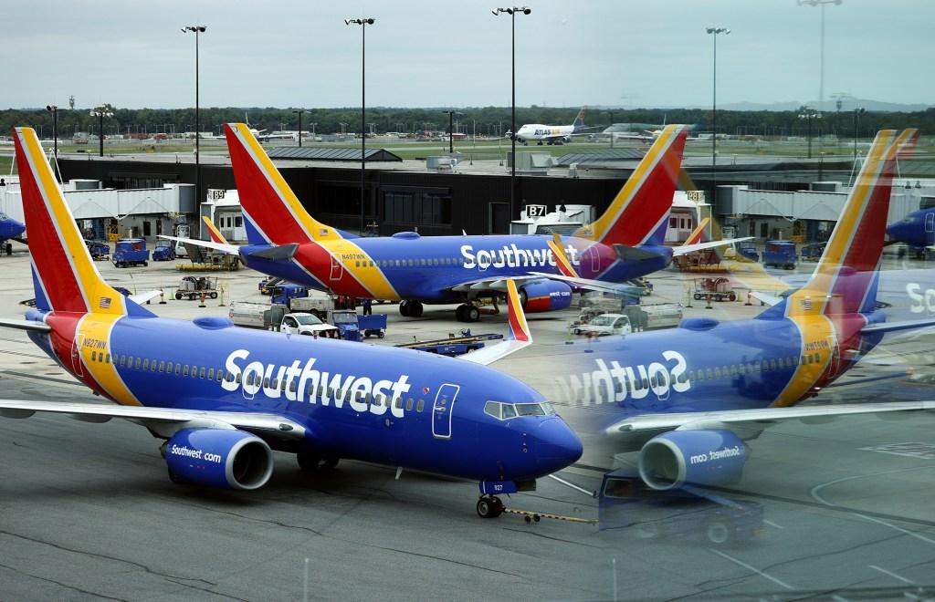 Southwest planes.