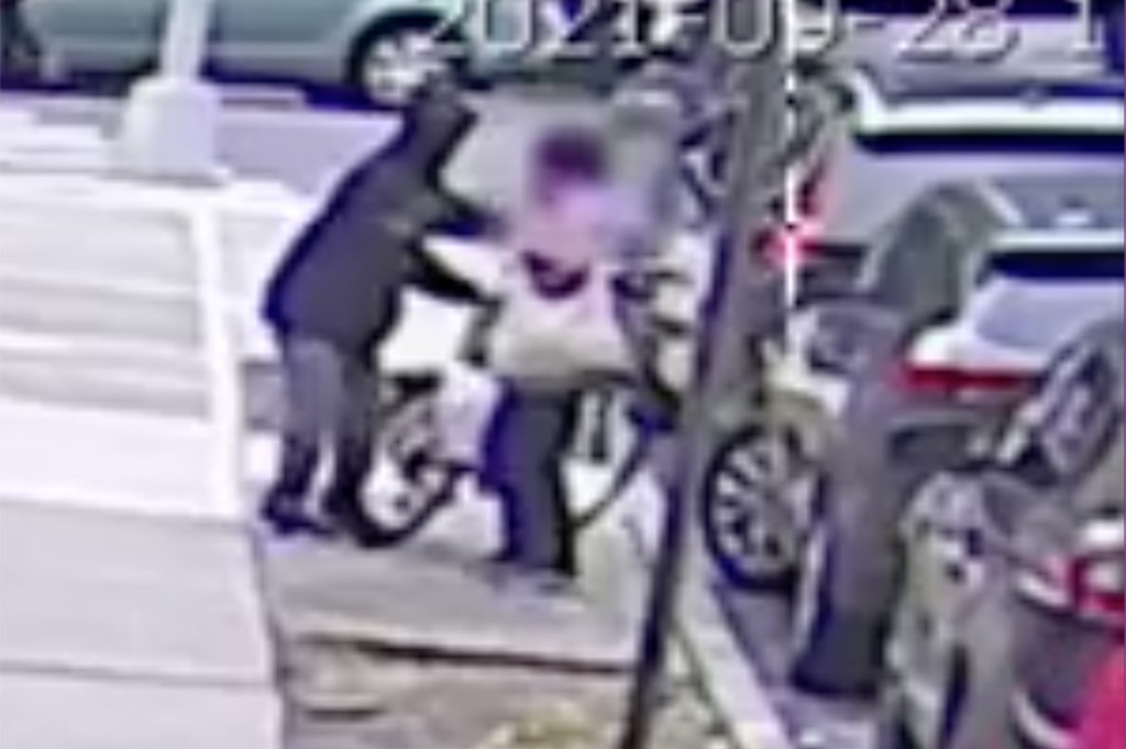 The unidentified thief made a grab for the woman's purse in the middle of the street with tons of witnesses.