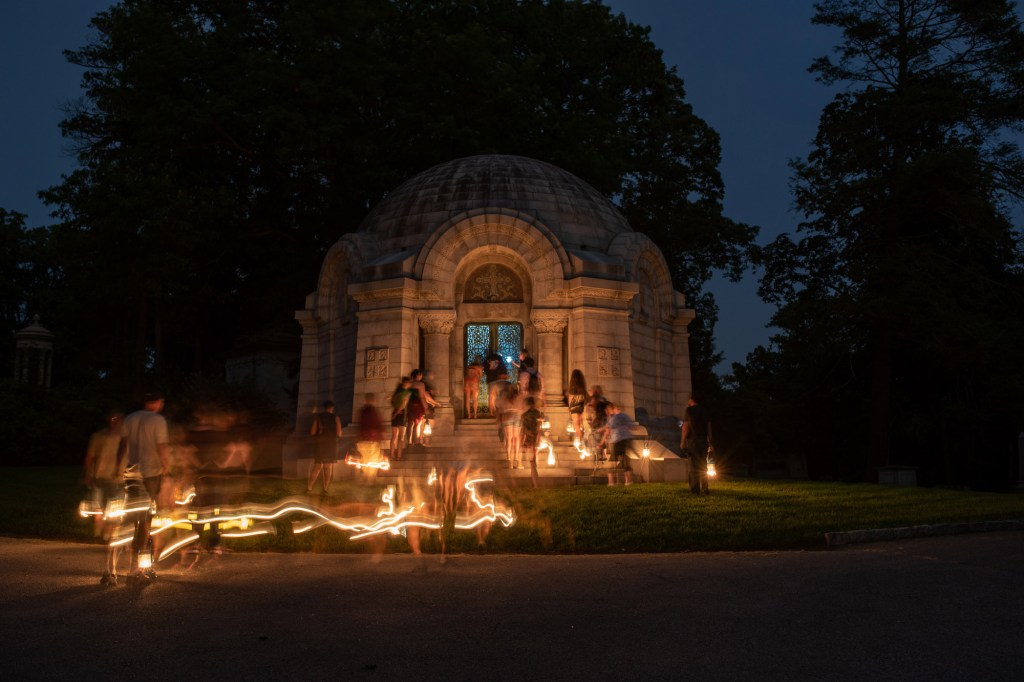 Cemetery tours are available both day and night.