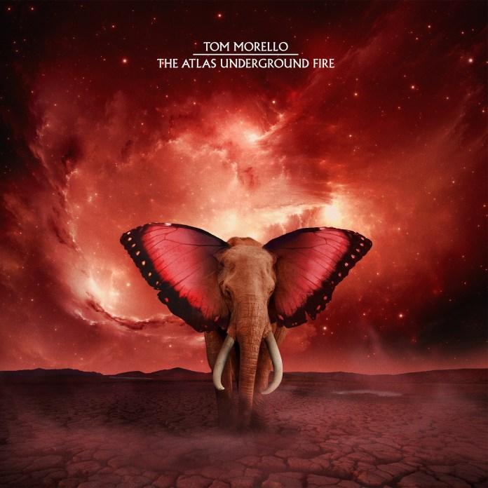 "The cover of Tom Morello's new album ""The Atlas Underground Fire"""