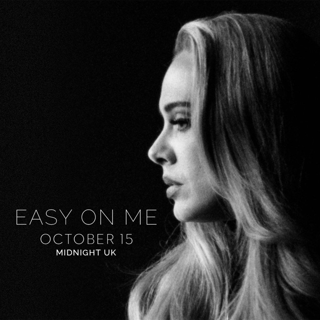 """The cover of Adele's comeback single """"Easy on Me"""""""