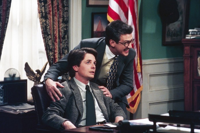 """Michael J. Fox and Alan Ruck in """"Spin City."""""""