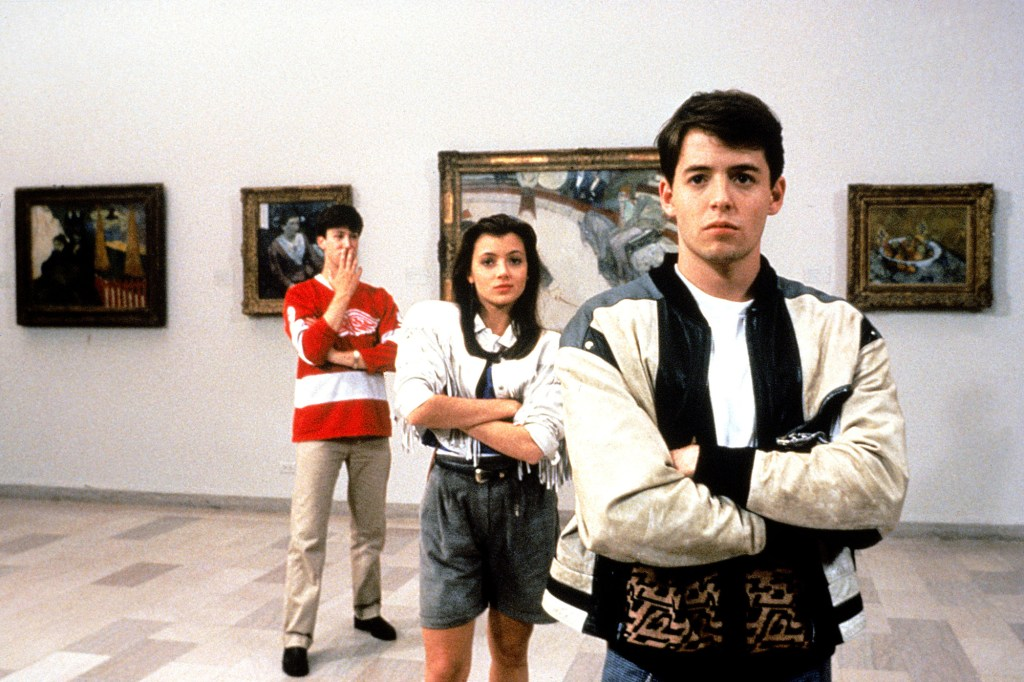 "Alan Ruck, Mia Sara and Matthew Broderick in 1986's ""Ferris Bueller's Day Off."""