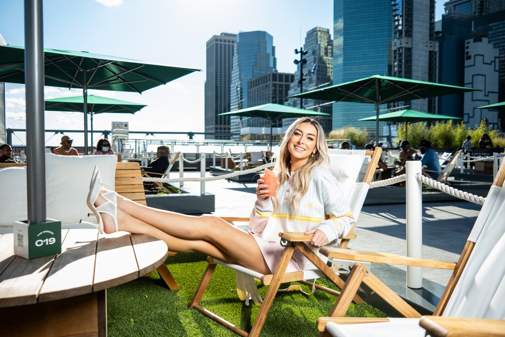 LaPaglia chills out at The Greens at Pier 17 in Manhattan.