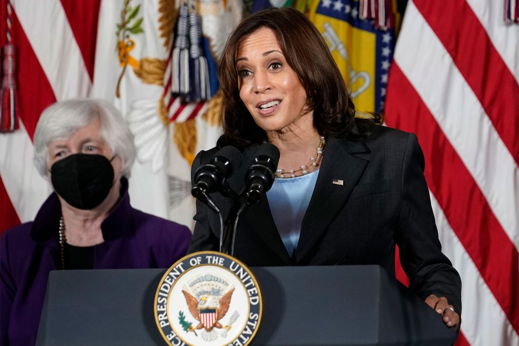 Vice President Kamala Harris would be the tie-breaker for the Democrats.