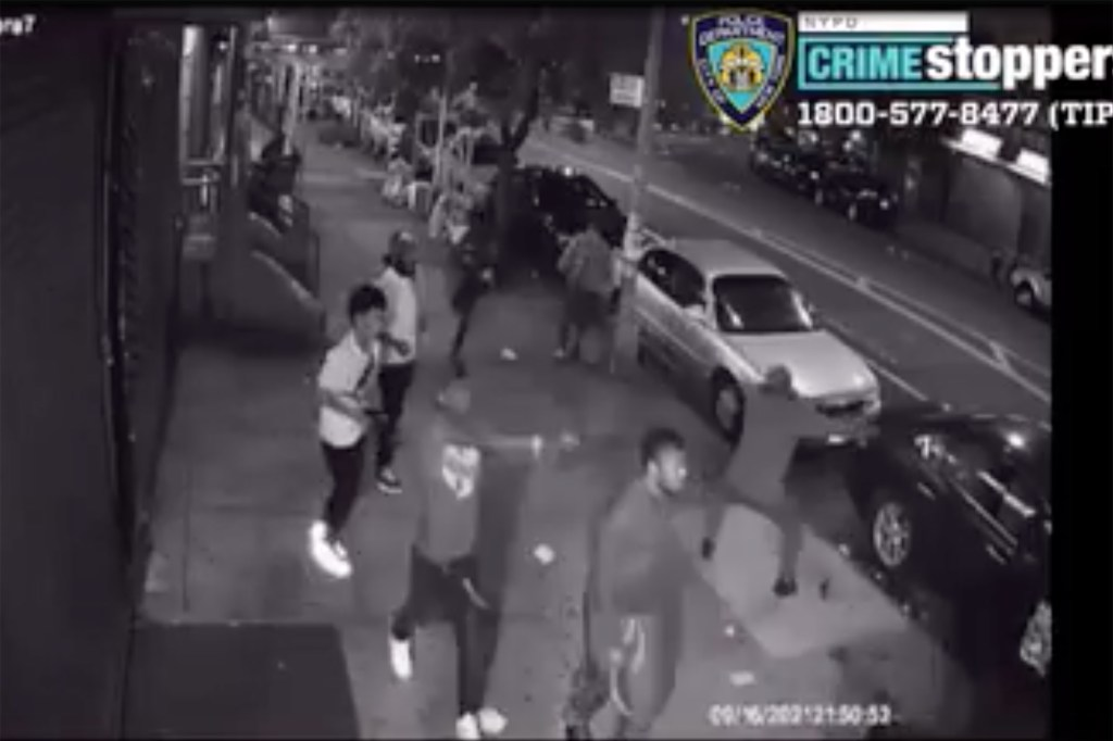 The video shows a gunfight in front of 635 E. 169th St. on Sept. 16.