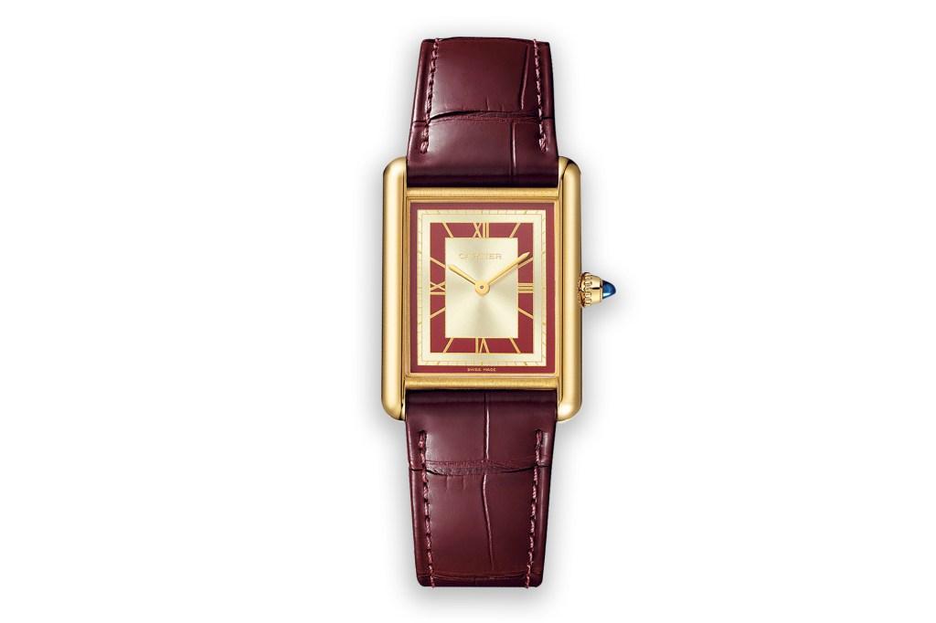 Tank Louis Cartier watch in 18-k yellow gold, $13,800