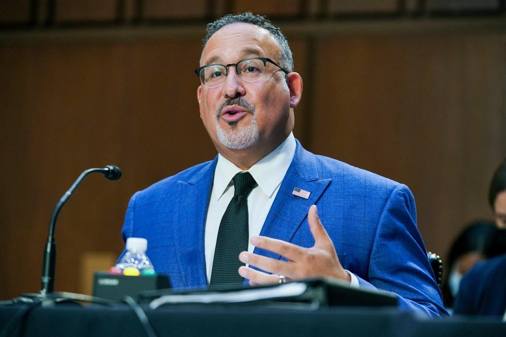 Education Secretary Miguel Cardona.
