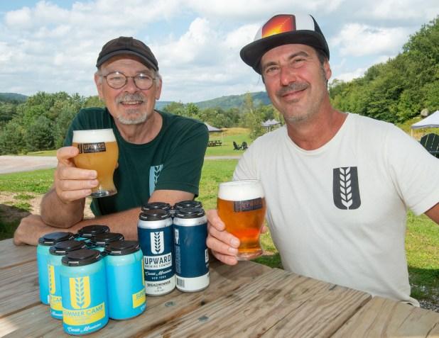 Brewery Battle, Dana Ball (right) and Dave Walton of Upward Brewing Livingston Manor, NY,