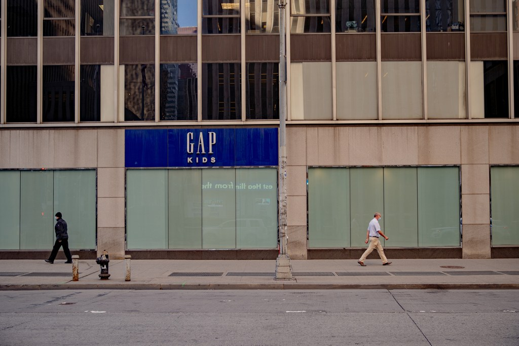 A Gap store that closed for good.